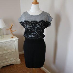 NWOT LOFT Lace Detail Sweater Dress